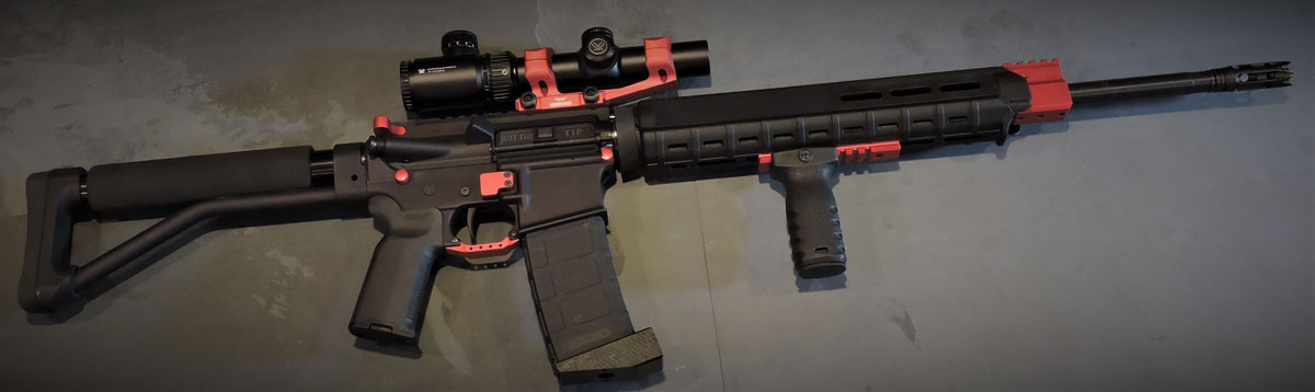 RED ANODIZED AR-15, AR-10 (LR-308) PARTS